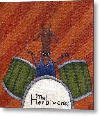 The Herbivores Metal Print by Christy Beckwith