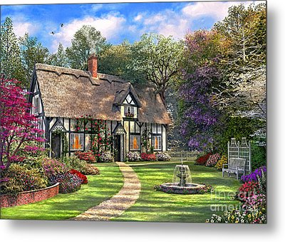 The Hideaway Cottage Metal Print by Dominic Davison