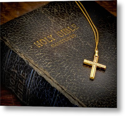 The Holy Bible Metal Print by David and Carol Kelly