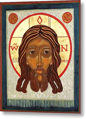 The Holy Face Metal Print by Marcelle Bartolo-Abela