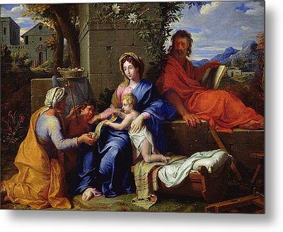 The Holy Family Metal Print by Louis Licherie de Beuron