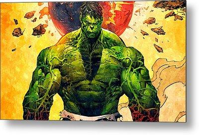The Hulk Metal Print by Florian Rodarte