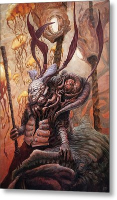 The Hunter And His Henchman  Metal Print by Ethan Harris