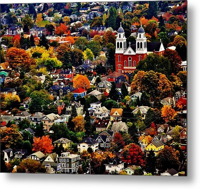 The Immaculate Conception Church Of Seattle Metal Print by Benjamin Yeager