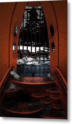 The Inbetween Metal Print by Cyryn Fyrcyd