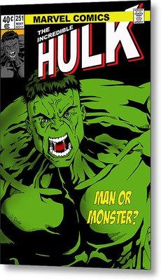 The Incredible Hulk Metal Print by Mark Rogan