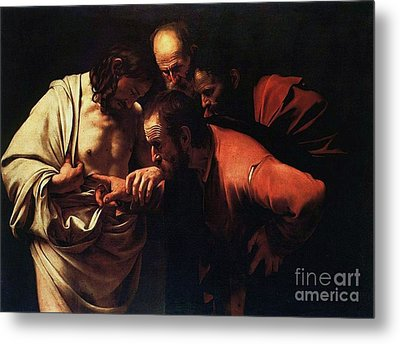 The Incredulity Of Saint Thomas Metal Print by Pg Reproductions
