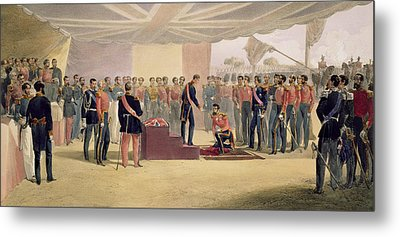 The Investiture Of The Order Metal Print by William 'Crimea' Simpson