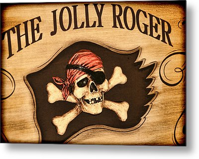 The Jolly Roger Metal Print by Kathy Clark