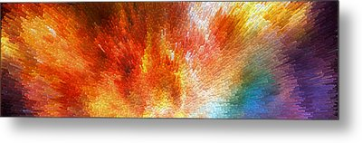 The Journey - Abstract Art By Sharon Cummings Metal Print by Sharon Cummings