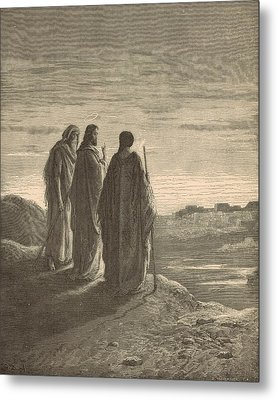 The Journey To Emmaus Metal Print by Antique Engravings