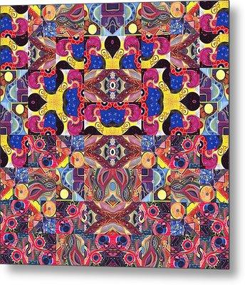 The Joy Of Design Mandala Series Puzzle 3 Arrangement 6 Metal Print by Helena Tiainen