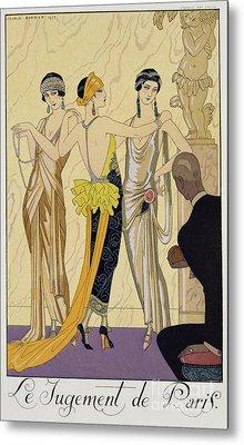 The Judgement Of Paris Metal Print by Georges Barbier
