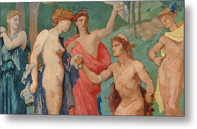 The Judgement Of Paris Metal Print by Jules Elie Delaunay