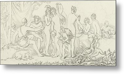The Judgement Of Paris Metal Print by William Etty