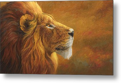 The King Metal Print by Lucie Bilodeau