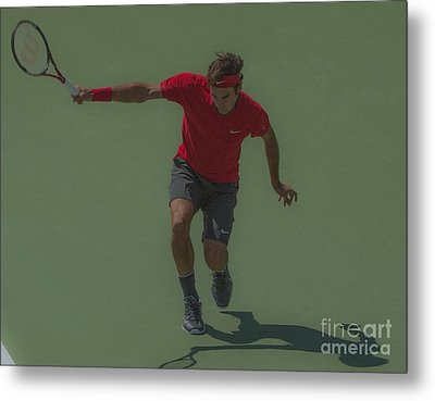 The King Of Tennis Metal Print by Terry Cosgrave