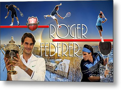 The King Roger Federer Metal Print by Christopher Finnicum