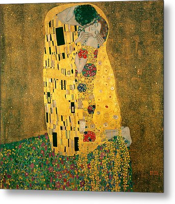 The Kiss Metal Print by Gustive Klimt