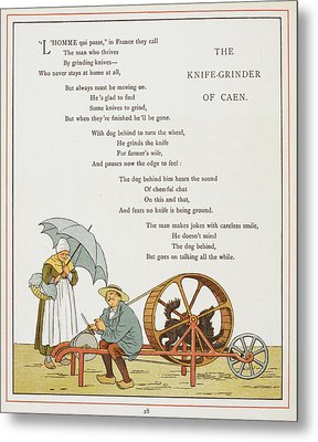 The Knife-grinder Of Caen Metal Print by British Library