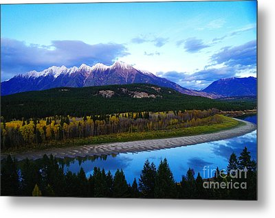 The Kootenenai River Surrounding The Canadian Rockies   Metal Print by Jeff Swan