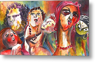 The Ladies Of Loket In The Czech Republic Metal Print by Miki De Goodaboom