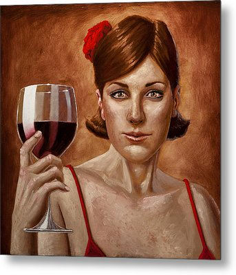 The Lady Red Metal Print by Mark Zelmer