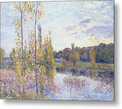 The Lake At Chevreuil Metal Print by Alfred Sisley