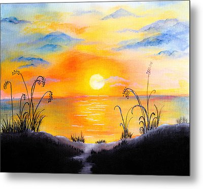 The Land Of The Dying Sun Metal Print by Nirdesha Munasinghe