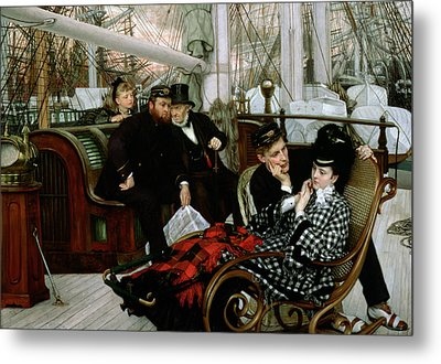 The Last Evening, 1873 Oil On Canvas Metal Print by James Jacques Joseph Tissot