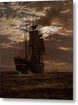 The Last Indian Troopship Hms Malabar Metal Print by Charles Parsons Knight