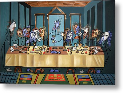 The Last Supper Metal Print by Anthony Falbo