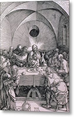 The Last Supper From The 'great Passion' Series Metal Print by Albrecht Duerer