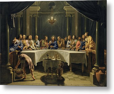 The Last Supper Metal Print by Jean Baptiste de Champaigne