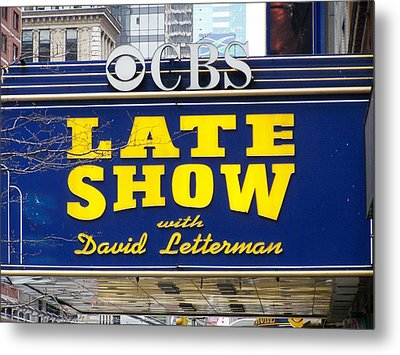 The Late Show With David Letterman Metal Print by Kenneth Summers