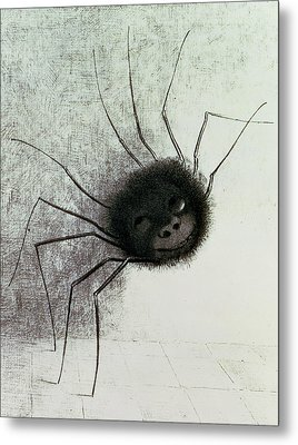 The Laughing Spider Metal Print by Odilon Redon