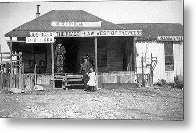 The Law West Of The Pecos Metal Print by Underwood Archives