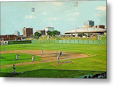 The Lawrence Baseball Stadium In Wichita Ks Around 1920 Metal Print by Dwight Goss