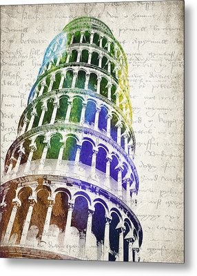The Leaning Tower Of Pisa Metal Print by Aged Pixel