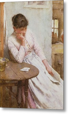 The Letter  Metal Print by Walter Langley