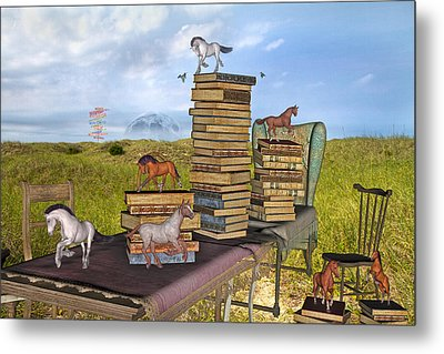The Library Your Local Treasure Metal Print by Betsy C Knapp