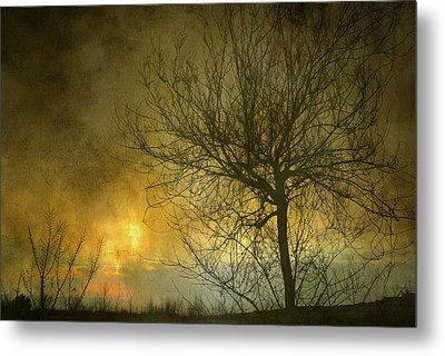 The Light Escapes Through The Clouds Metal Print by Guido Montanes Castillo