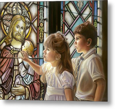 The Light Of Faith Metal Print by Sharon Lange