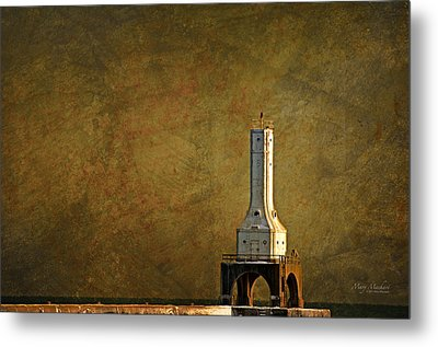 The Lighthouse - Port Washington Metal Print by Mary Machare