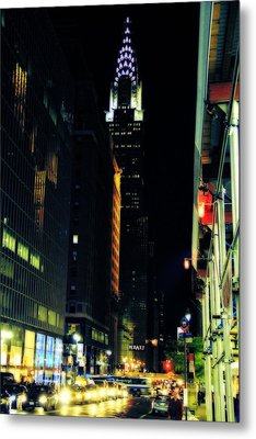 The Lights Of New York City Metal Print by Dan Sproul