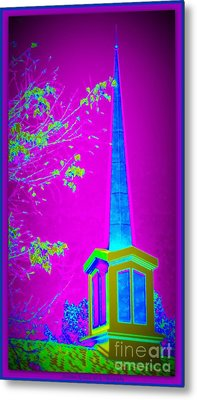 The Lights On Metal Print by Bobbee Rickard