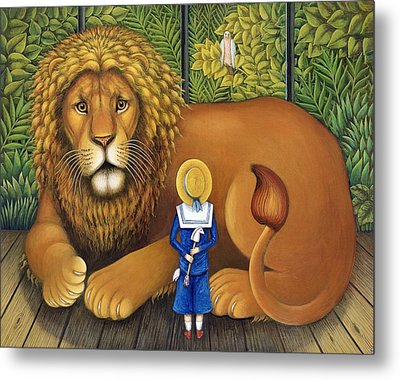 The Lion And Albert, 2001 Metal Print by Frances Broomfield