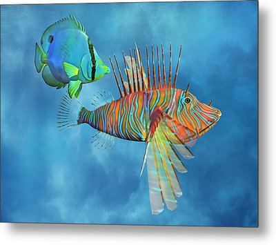 The Lion And The Butterfly Metal Print by Betsy C Knapp