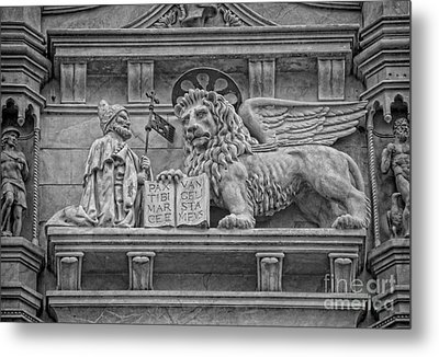 The Lion Of Saint Mark Metal Print by Lee Dos Santos