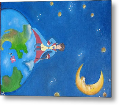 The Little Prince Metal Print by Yenni Castillo